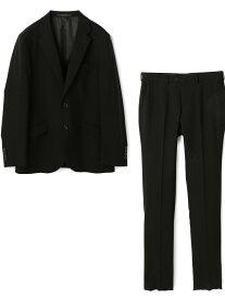 MEN'S BIGI ストレッチ ブラックスーツ/ギャバタッサー メンズ ビギ ビジネス/フォーマル スーツ ブラック【送料無料】