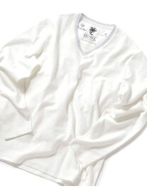 MEN'S BIGI 【LIONHEART別注】ロングスリーブカットソー メンズ ビギ カットソー Tシャツ ホワイト ブラック【送料無料】