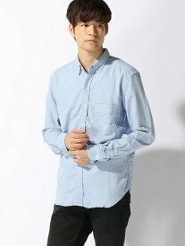 YANUK YANUK MEN/(M)ボタンダウンシャツ ディヴィニーク シャツ/ブラウス 長袖シャツ ブルー グレー ネイビー【送料無料】