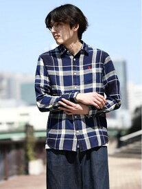 【SALE/35%OFF】インディゴチェックシャツ ジョルダーノ シャツ/ブラウス【RBA_S】【RBA_E】