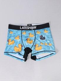 LATESHOW LATESHOW/(M)アヒルちゃん ハンドサイン インナー/ナイトウェア ボクサーパンツ/トランクス ブルー【先行予約】*