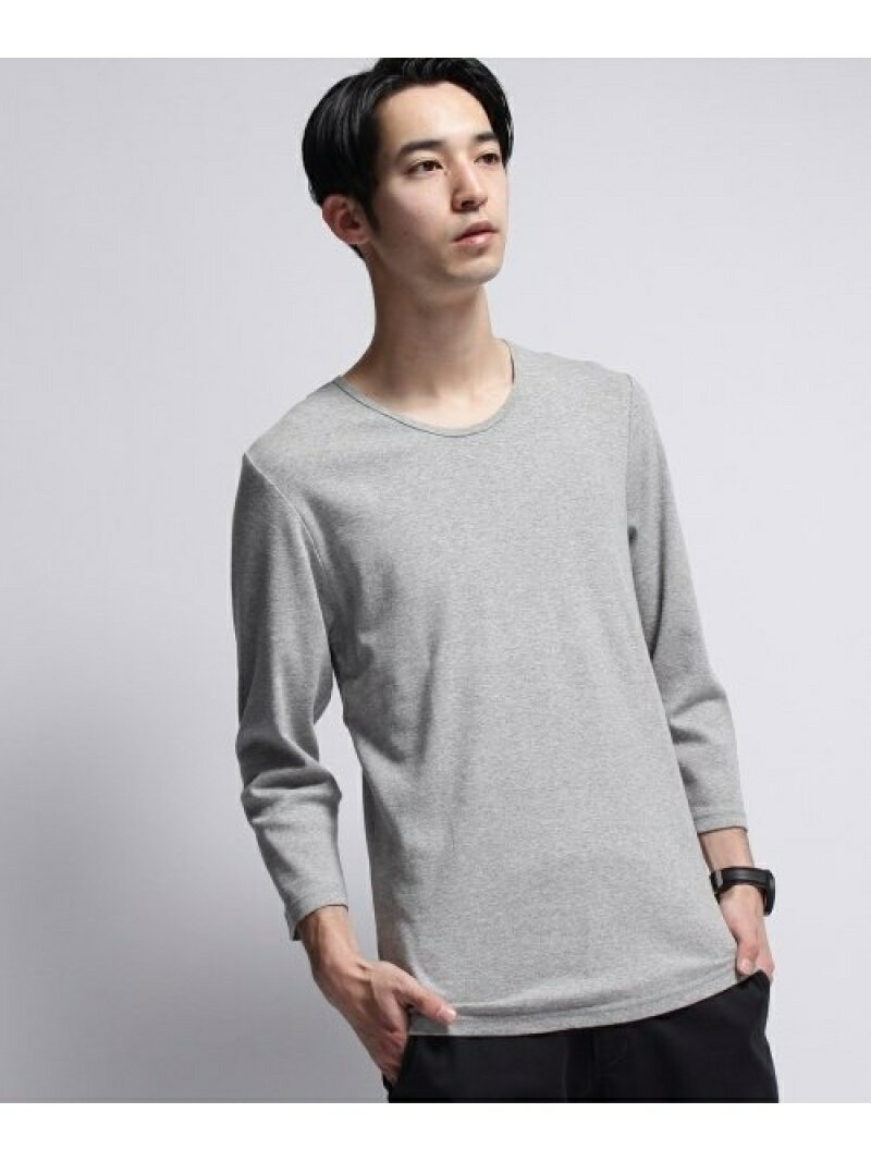 BASECONTROL baby rib loose neck 3/4 sleeve tee ベース ステーション カットソー