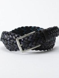 BLACK LABEL CRESTBRIDGE レザーメッシュベルト ブルーレーベル / ブラックレーベル・クレストブリッジ ファッショングッズ ベルト ブラック ブラウン【送料無料】