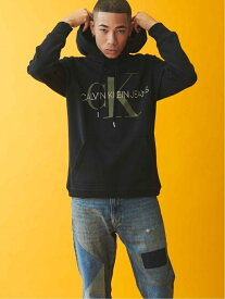 Calvin Klein Jeans (M)CALVIN KLEIN 【カルバン クライン ジーンズ】 メンズ ロゴ パーカー フーディ スウェット A-REG MNGRM HD J313457 カルバン・クライン カットソー スウェット ホワイト レ【送料無料】