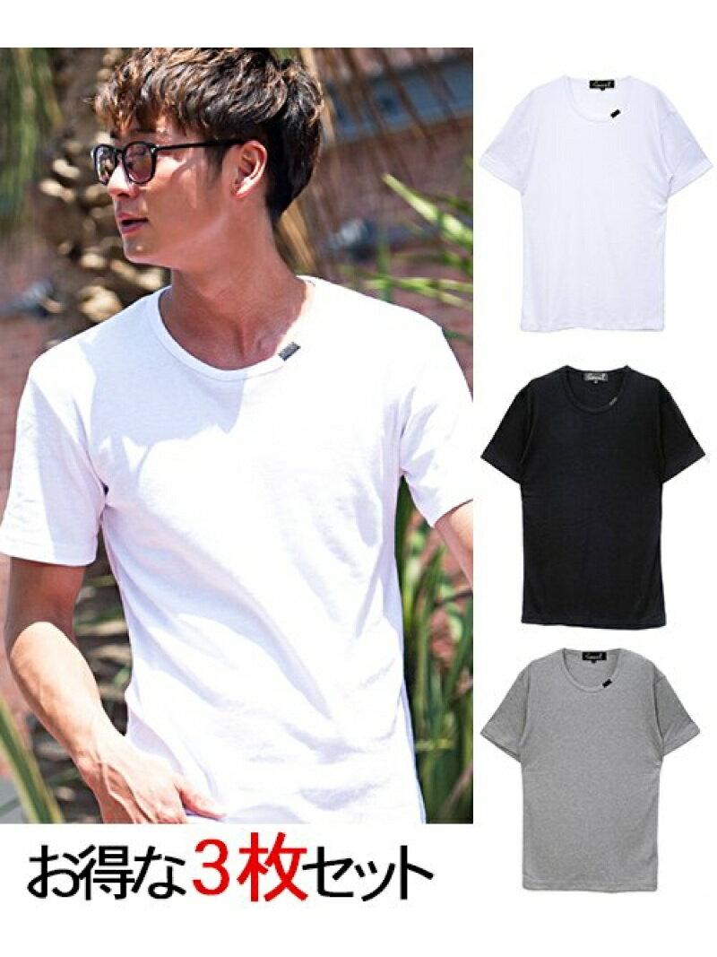 CavariA CavariA3Pパックフライスクルーネック半袖Tシャツ シルバーバレット カットソー【送料無料】