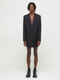 DRESSEDUNDRESSED Back Organza Layered Shawl Collar Blazer シーナウトウキョウ コート/ジャケット テーラードジャケット ブラック【先行予約】*【送料無料】