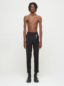 DRESSEDUNDRESSED Slim-Fit Suit Trousers シーナウトウキョウ パンツ/ジーンズ フルレングス ブラック グレー【先行予約】*【送料無料】