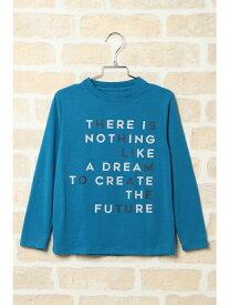 ikka kids ランダムロゴロングTシャツ(120~160cm) イッカ カットソー