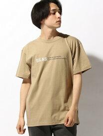 SILAS SS TEE SLOGAN サイラス カットソー Tシャツ ベージュ ブラック グリーン ネイビー パープル レッド ホワイト イエロー