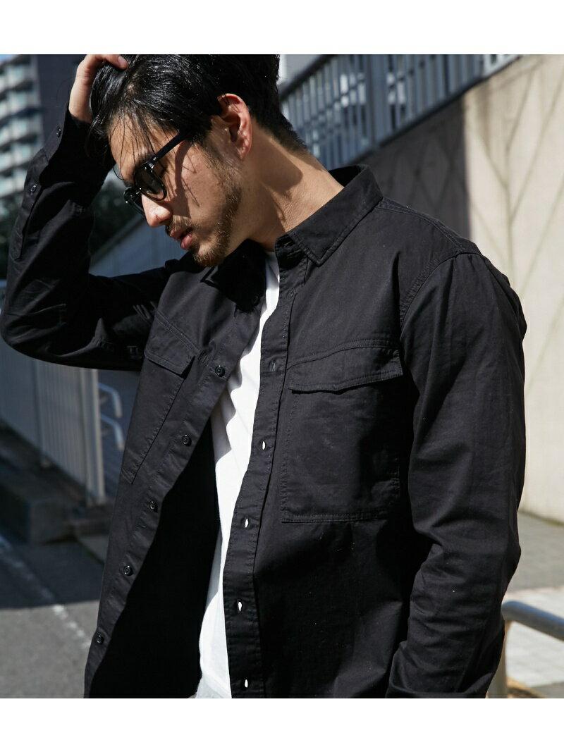 【SALE/60%OFF】AZUL by moussy 《WEB限定プレセール》長袖ミリタリーシャツ アズールバイマウジー シャツ/ブラウス【RBA_S】【RBA_E】