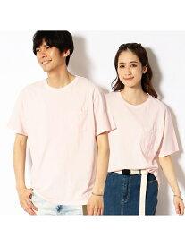 Purple&Yellow 胸ポケット付き Tシャツ コムサイズム カットソー Tシャツ ピンク グレー ネイビー グリーン