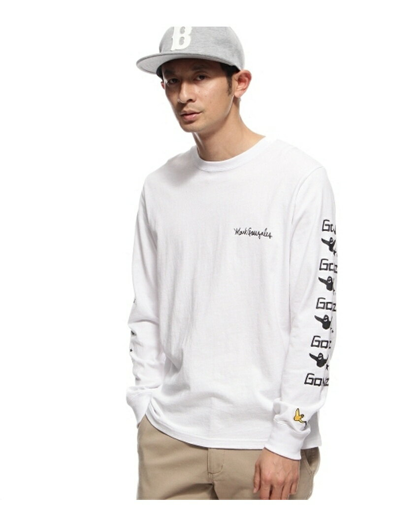 BASECONTROL MARK GONZALES別注 袖プリント長袖Tシャツ ベース ステーション カットソー【送料無料】