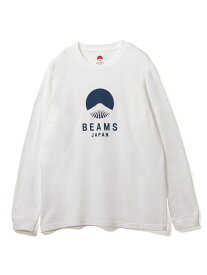 BEAMS JAPAN BEAMS JAPAN / ビームス ジャパン ロゴ Tシャツ 長袖 ホワイト ビームス ジャパン ビームス ジャパン カットソー Tシャツ ブルー レッド【送料無料】