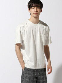LAKOLE (M)イミテーションスエードT ラコレ カットソー Tシャツ ホワイト グレー ブルー ブラウン