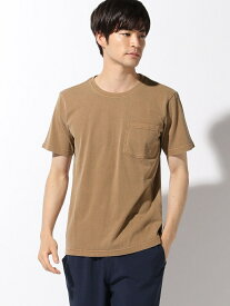 【SALE/31%OFF】LAKOLE (M)フェードポケT ラコレ カットソー Tシャツ ブラウン グレー ホワイト【RBA_E】