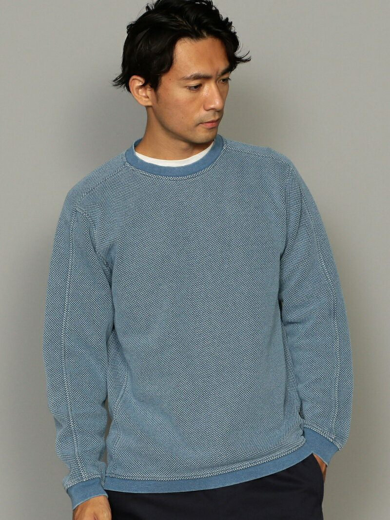 【SALE/30%OFF】UNITED ARROWS green label relaxing SC★インディゴワッフルクルーネックL/S カットソー ユナイテッドアローズ グリーンレーベルリラクシング カットソー【RBA_S】【RBA_E】【送料無料】