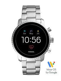 FOSSIL Q FOSSIL SMARTWATCH/(M)Q EXPLORIST HR FTW4 フォッシル ファッショングッズ 腕時計 シルバー【送料無料】
