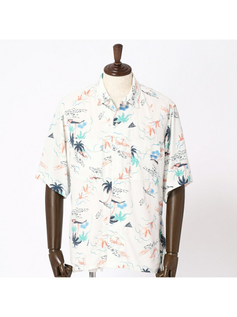 【SALE/30%OFF】vital MONSIEUR NICOLE プリントオープンカラーシャツ ニコル シャツ/ブラウス【RBA_S】【RBA_E】【送料無料】