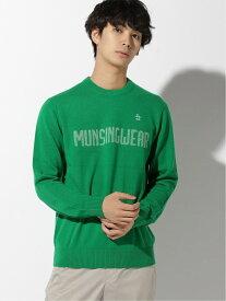 Munsingwear (M)カシミヤ胸ロゴセーター マンシングウェア ニット 長袖ニット グリーン グレー ネイビー【送料無料】