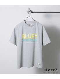 【SALE/61%OFF】JUNRed 【Less:3×BLUEYSURFCLUB】BIGロゴプリントTシャツ ジュンレッド カットソー カットソーその他 グレー ホワイト ネイビー【RBA_E】