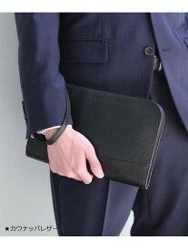 TAKEO KIKUCHI ブラック×ブラックレザークラッチバッグ タケオキクチ バッグ クラッチバッグ ブラック【送料無料】