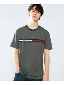 TOMMY HILFIGER TOMMY HILFIGER(トミーヒルフィガー) トミーヒルフィガーロゴTシャツ/TINO TEE ロゴ Tee カットソー 半袖 Tシャツ メンズ トミーヒルフィガー カットソー Tシャツ ホワイト グレー 【送料無料】