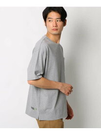THE SHOP TK サイクロビッグシルエット半袖Tシャツ ザ ショップ ティーケー カットソー Tシャツ グレー カーキ ベージュ ピンク