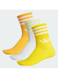 adidas Originals MID CUT CREW SOCKS 3P アディダス ファッショングッズ ソックス/靴下 イエロー ブラック ブルー ホワイト レッド