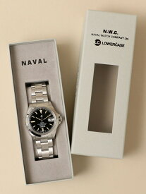 SHIPS NAVAL WATCH Produced by LOWERCASE: AUTO METAL BAND WATCH (腕時計) シップス ファッショングッズ 腕時計 ブラック【先行予約】*【送料無料】