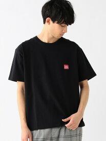 B:MING by BEAMS Manhattan Portage / ロゴ プリントTシャツ  BEAMS ビームス マンハッタンポーテージ ビーミング ライフストア バイ ビームス カットソー Tシャツ ブラック ホワイト【送料無料】
