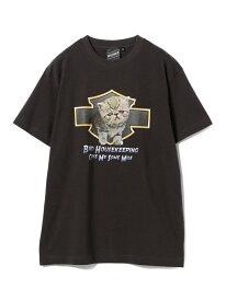 BEAMS T 【SPECIAL PRICE】BEAMS T / Neko Tee ビームスT カットソー Tシャツ ブラック