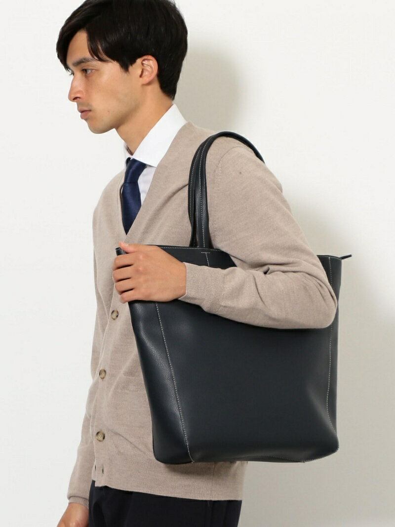 UNITED ARROWS green label relaxing FAKE LTHR TOPZIP TOTE ユナイテッドアローズ グリーンレーベルリラクシング バッグ【送料無料】