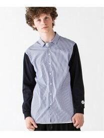 rehacer Fusion Stripe Shirt Made in Japan レアセル シャツ/ブラウス 長袖シャツ ブラック ネイビー【送料無料】