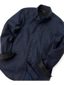 MEN'S BIGI ドットドビー スナップダウンシャツ〈ウォッシャブル〉 メンズ ビギ シャツ/ブラウス 長袖シャツ ネイビー グレー レッド【送料無料】