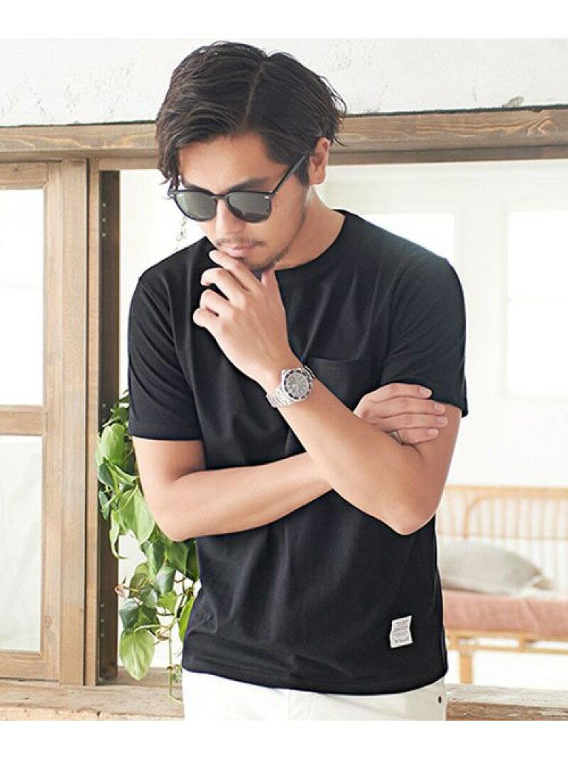 CavariA CavariAポケット付きクルーネックTシャツ シルバーバレット カットソー
