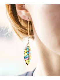 rehacer rehacer:Stained glass Leaf Hook Pierce レアセル アクセサリー ピアス ゴールド シルバー