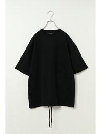 VENCE share style ミニ裏毛裾スピンドルビッグTシャツ ヴァンス エクスチェンジ カットソー Tシャツ ブラック ホワイト ベージュ