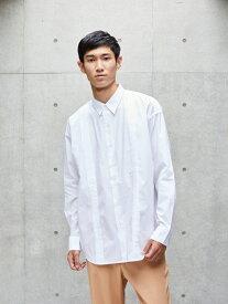 koe Men's ドロップブロードピンタックシャツ コエ シャツ/ブラウス 長袖シャツ ホワイト ブラウン ネイビー【送料無料】