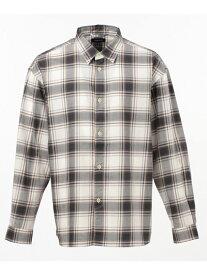 SHARE PARK ダークマドラスチェックシャツ シェアパーク シャツ/ブラウス 長袖シャツ グレー オレンジ イエロー【送料無料】