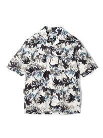 【SALE/50%OFF】RATTLE TRAP C/Lトロピカルプリントオープンカラーシャツ メンズ ビギ シャツ/ブラウス 長袖シャツ ホワイト ネイビー レッド【RBA_E】【送料無料】