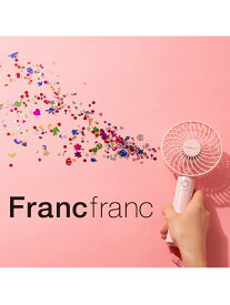 Francfranc 【扇風機】フレ 2WAY ハンディファン ピンク フランフラン 生活雑貨 ポータブル送風機 ピンク