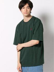 【SALE/23%OFF】WEGO (M)別注USPOLOビッグTシャツ ウィゴー カットソー Tシャツ グリーン ホワイト ブラウン【RBA_E】