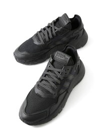 【SALE/60%OFF】adidas NITE JOGGER ナノユニバース シューズ スニーカー/スリッポン ブラック ホワイト【RBA_E】【送料無料】