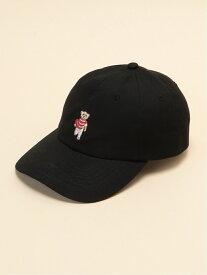 Butch&Phillip Butch&Phillip/(U)BP ラブビークマワッペンツイルキャッフ ゴースローキャラバン 帽子/ヘア小物 キャップ ブラック ベージュ ホワイト