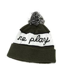 PLAYDESIGN (U)NPNL KNIT プレイデザイン 帽子/ヘア小物 ニット帽/ビーニー カーキ ホワイト ブラック【送料無料】