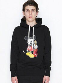 【SALE/30%OFF】NUMBER (N)INE HOODED PARAK_NUMBER (N)INE MICKEY MOUSE_KR ナンバーナイン カットソー パーカー ブラック【RBA_E】【送料無料】