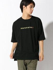 CORISCO CORISCO/(M)ハッポウプリントTEE サンコーバザール カットソー Tシャツ ブラック グリーン ネイビー ホワイト グレー