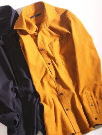 RATTLE TRAP ネル起毛ホリゾンタルカラーシャツ メンズ ビギ シャツ/ブラウス 長袖シャツ イエロー ホワイト ネイビー レッド【送料無料】