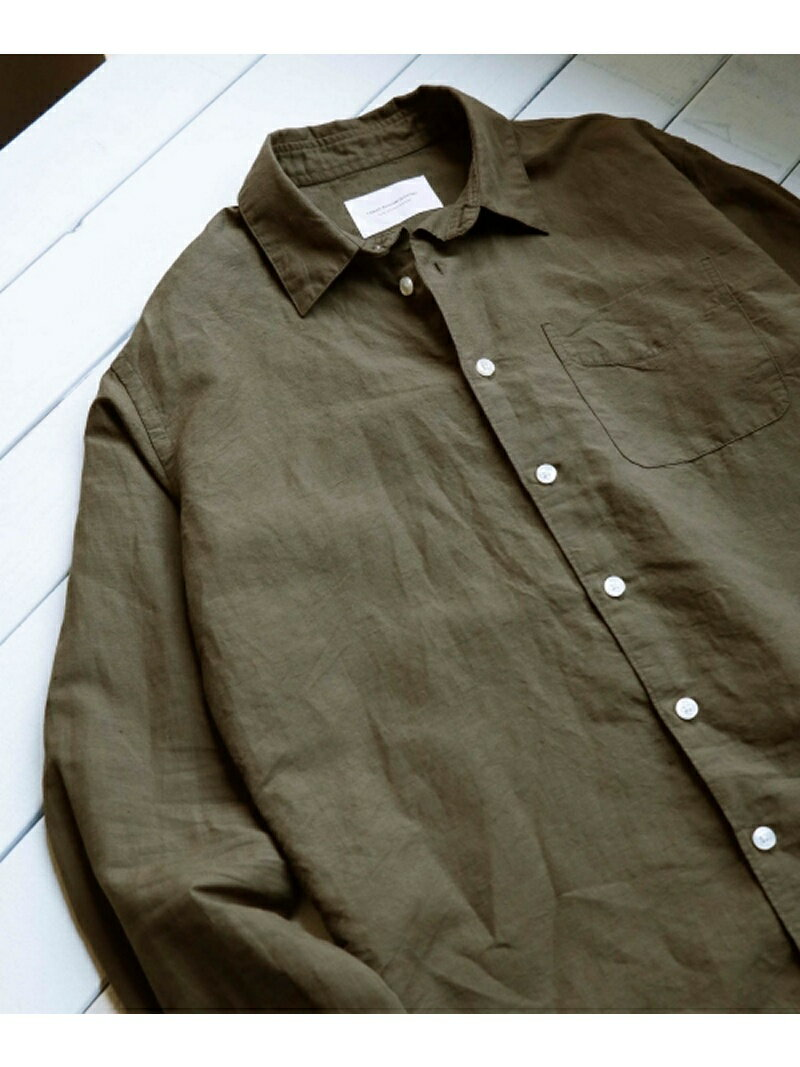 【SALE/50%OFF】DOORS 綿麻Long-Sleeve Shirts アーバンリサーチドアーズ シャツ/ブラウス【RBA_S】【RBA_E】【送料無料】
