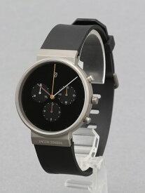 JACOB JENSEN (U)Chronograph Rubber(600) ヤコブ イェンセン ファッショングッズ 腕時計 ブラック【送料無料】